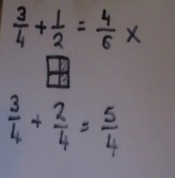 Fractions addition and subtraction