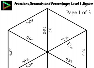math worksheet : fractions decimals and percentages level 1 jigsaw : Fractions Decimals Percents Worksheet