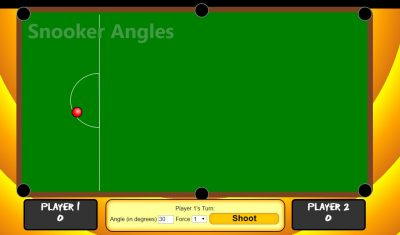 Snooker angle estimation