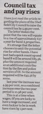 Council Tax letter.