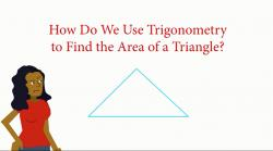 Using trig to find the area of a triangle